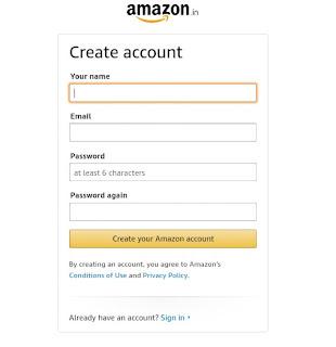 create account on Amazon associates