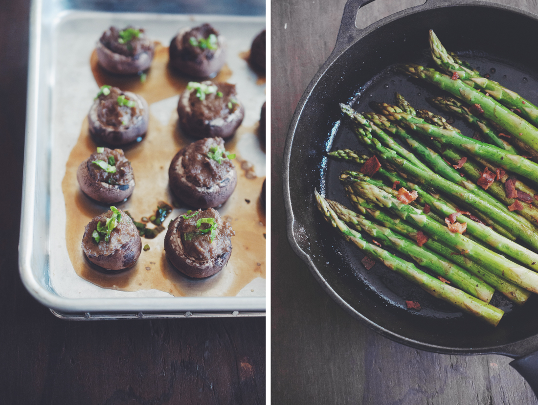 "Stuffed Mushrooms, Bacon Sauteed Asparagus, ""He Won't Know It's Paleo"" review + Giveaway (AIP & Paleo)"