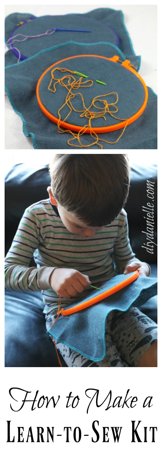 DIY Reusable Learn to Sew Kit for Kids