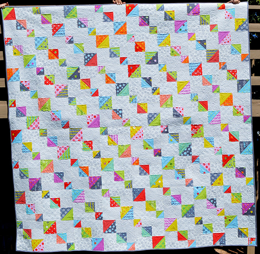 Top Spin Quilt designed by Melissa Corry from Happy Quilting for Moda Bake Shop