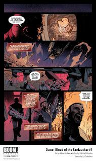 Primeras páginas de Dune: Blood of the Sardaukar # 1