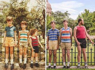 foto keluarga lucu dulu vs sekarang
