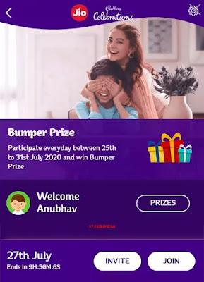 Jio cadbury celebration play and win