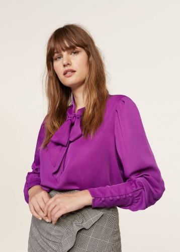 blusas violeta by mango