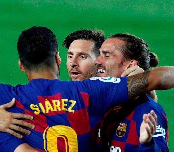 اهداف مباراة برشلونة وإسبانيول 10 فى الدورى الاسبانى 8-7-2020