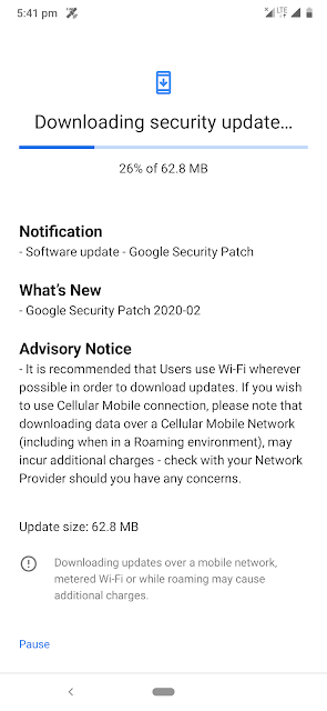 Nokia 6.2 receiving February 2020 Android Security patch