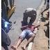 Jovem fica ferido após colidir com moto na viatura do Corpo de Bombeiros na zona norte de Cajazeiras