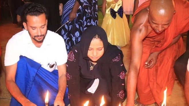 Fathima Teacher Visits Temple for Easter Sunday Attack 2