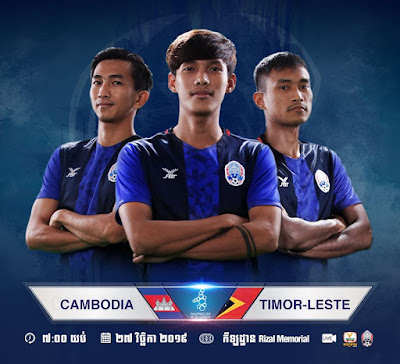 Live Streaming Cambodia vs Timor Leste (SEA GAMES) 27.11.2019
