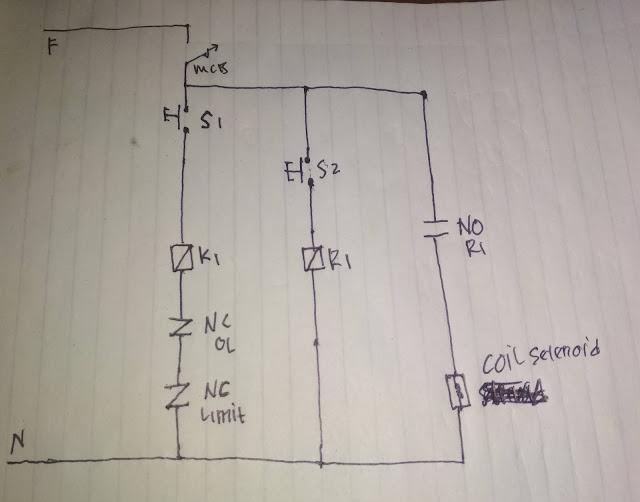 Rangkaian Listrik Mesin Table Lift