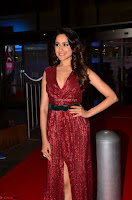 Pragya Jaiswal stunning Smiling Beauty in Deep neck sleeveless Maroon Gown at 64th Jio Filmfare Awards South 2017 ~  Exclusive 055.JPG