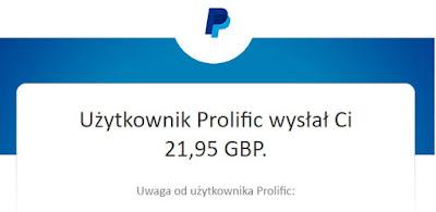 Prolific.co — płaci za wypełnianie ankiet na PayPal.