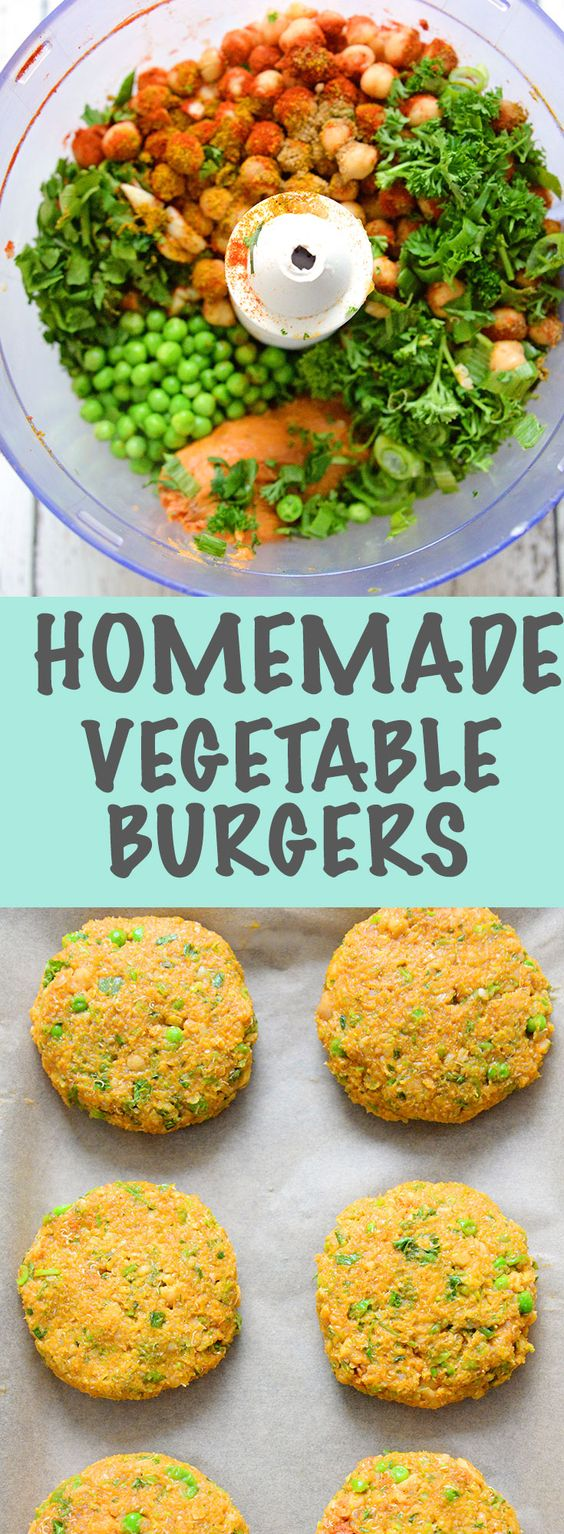 These veggie burgers are so easy to make and are a wonderful comfort food meal. They are made with a mixture of vegetables and baked in the oven.