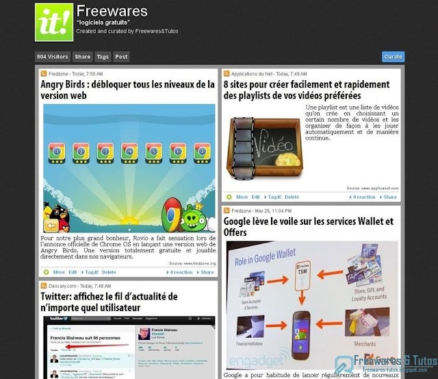 Page Scoop.it  de Freewares & Tutos : déjà plus de 500 visiteurs !