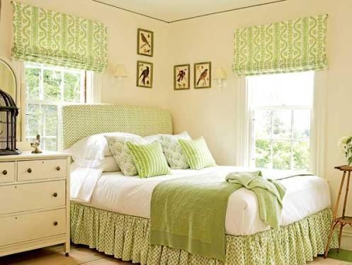 10 dormitorios decorados en color verde y crema - Cojines para habitacion de bebe ...