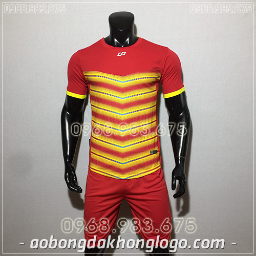 Áo bóng đá ko logo CP LEG màu đỏ