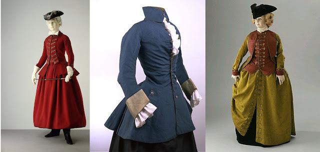 traje de montaria século xviii