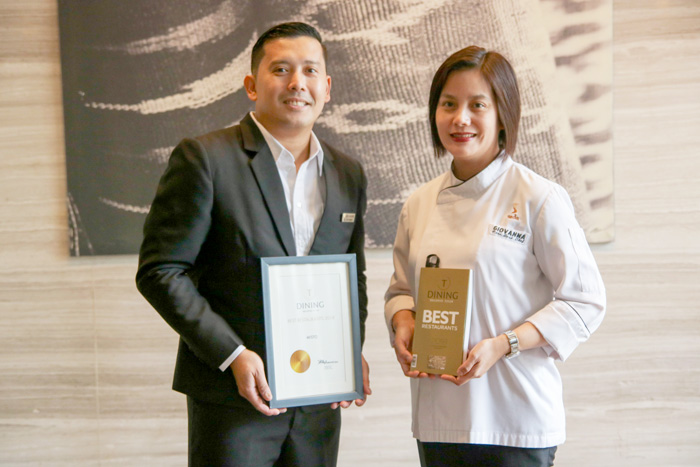 "Asst. F&B Manager Jules Melencion, Executive Sous Chef Giovanna ""Bang"" Sibala"