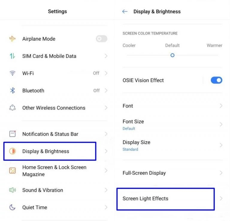 How To Enable Edge Lighting On Realme UI - Realme Updates