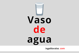 Vaso de agua, es una frase correcta