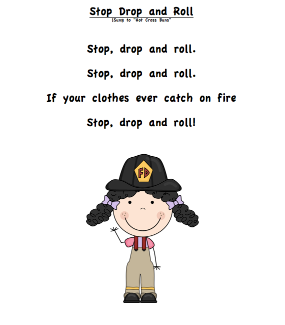 "Grade ONEderful: Fire safety poem called ""Stop Drop and Roll"""