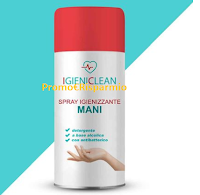 Logo Vinci gratis Spray Igienizzante mani da 100 ml IgieniClean