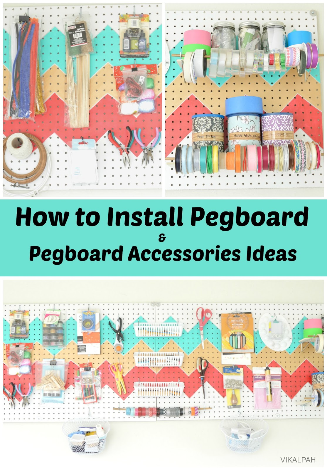 vikalpah how to install pegboard and pegboard organizing ideas. Black Bedroom Furniture Sets. Home Design Ideas