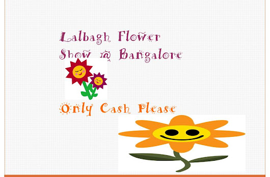 Digital Transactions @ Lalbagh Flower Show 2017 @ ONLY CASH PLEASE