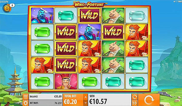 Main Slot Gratis Indonesia - Wins of Fortune (Quickspin)