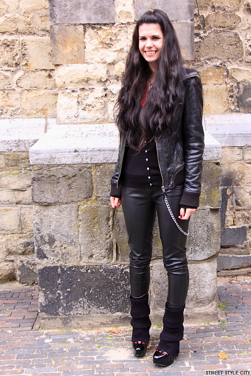 fashion style street streetstyle streetfashion look outfit ootd leather black