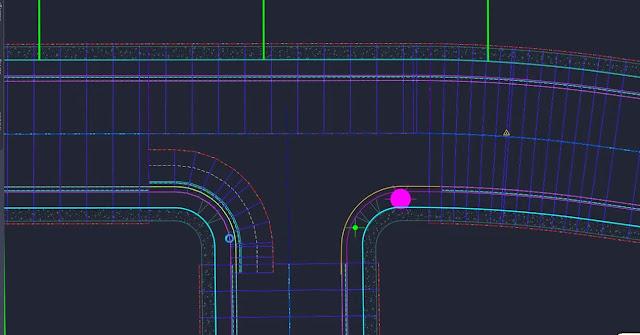 Curb return in a corridor in Civil 3D