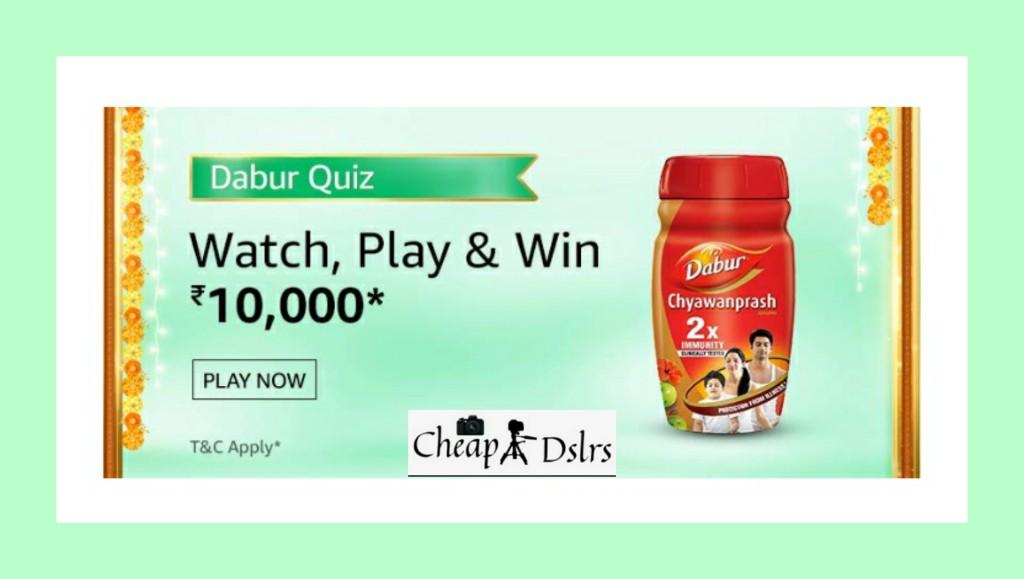 Amazon Dabur Quiz Answers Win – Rs.10000 Pay Balance