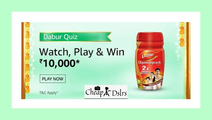 Amazon Dabur Quiz Answers Win – Rs.10000 Pay Balance