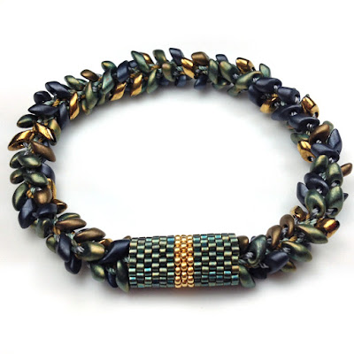 Kumihimo Bracelet with Long Magatamas & C-Lon Tex 400 Bead Cord
