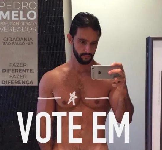 Nude vazada do pré-candidato a vereador, Pedro Melo