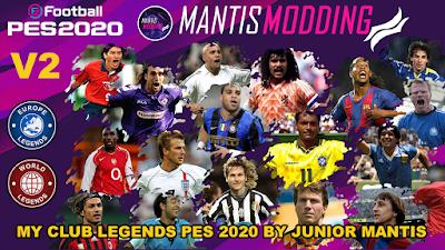 eFootball PES 2020 MyClub Legends v2 Datapack 2.0 by Junior Mantis