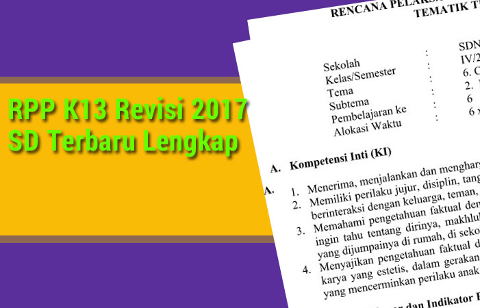 RPP K13 Revisi 2017 SD