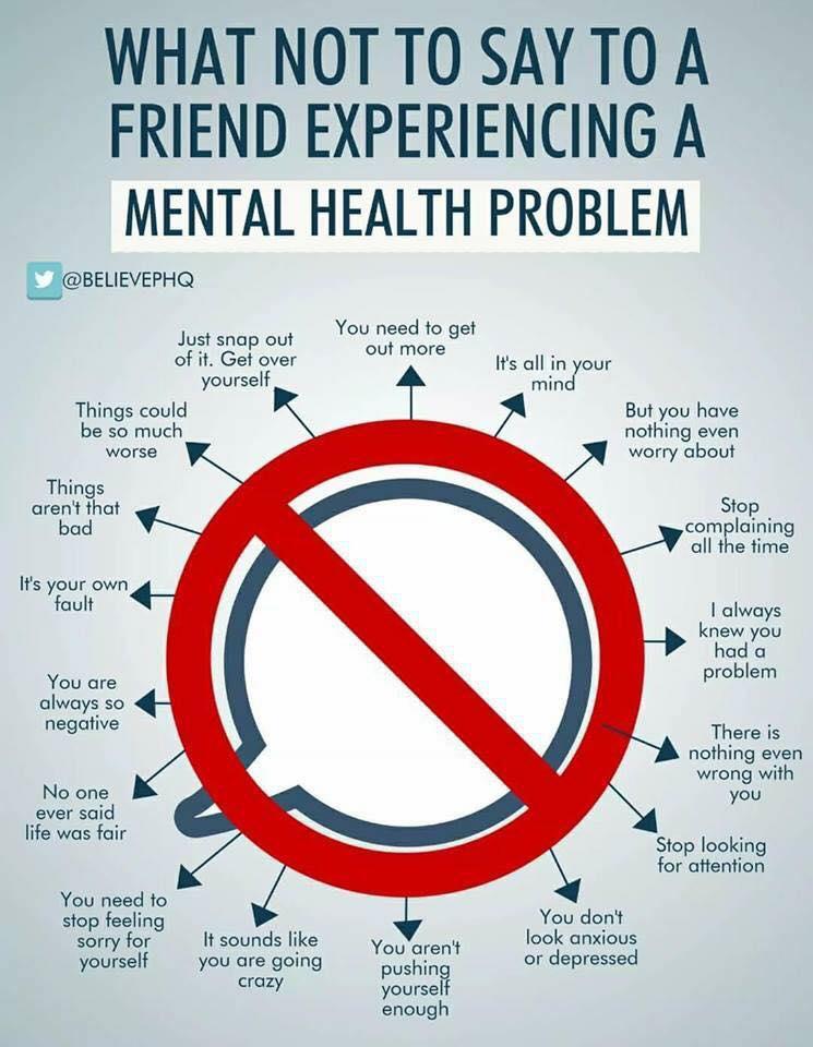 Να βγαίνω με κάποιον με ψυχικά προβλήματα.