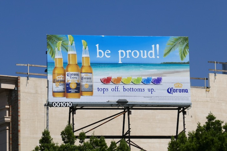 Corona Be proud LGBT 2020 billboard