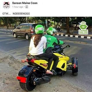 7 Potret Motor Unik Driver Ojek Online Ini Bikin Penumpang Ngakak Abizz!!
