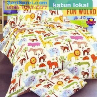 Sprei Katun Motif Anak Fun World Star