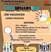 Job Vacancy at PT. Indoberka Investama Surabaya Maret 2020