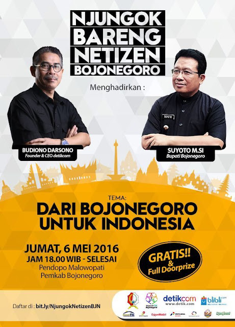 Informasi Acara Njungok Bareng Netizen Bojonegoro