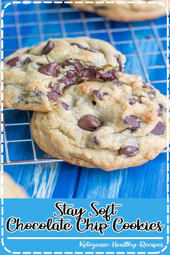 pillowy cookies stuffed full of chocolate chips that stay incredibly soft for days  Stay Soft Chocolate Chip Cookies