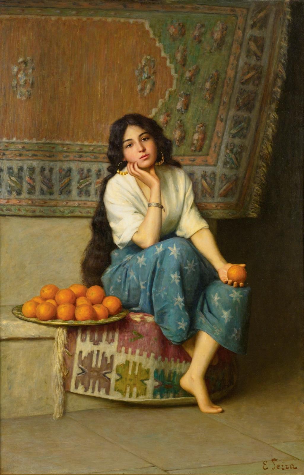 Enrique  Serra  y  Auque  The  Orange  Seller