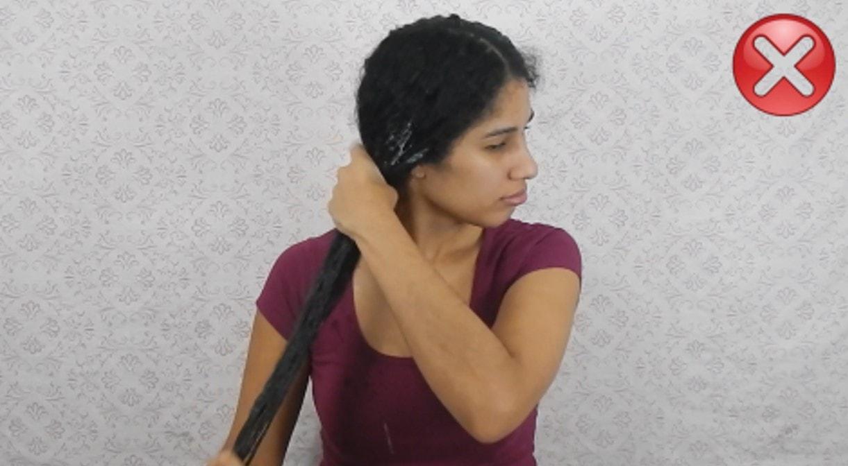 erros na hora de hidratar o cabelo