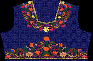 textile digital print designs Lehenga top