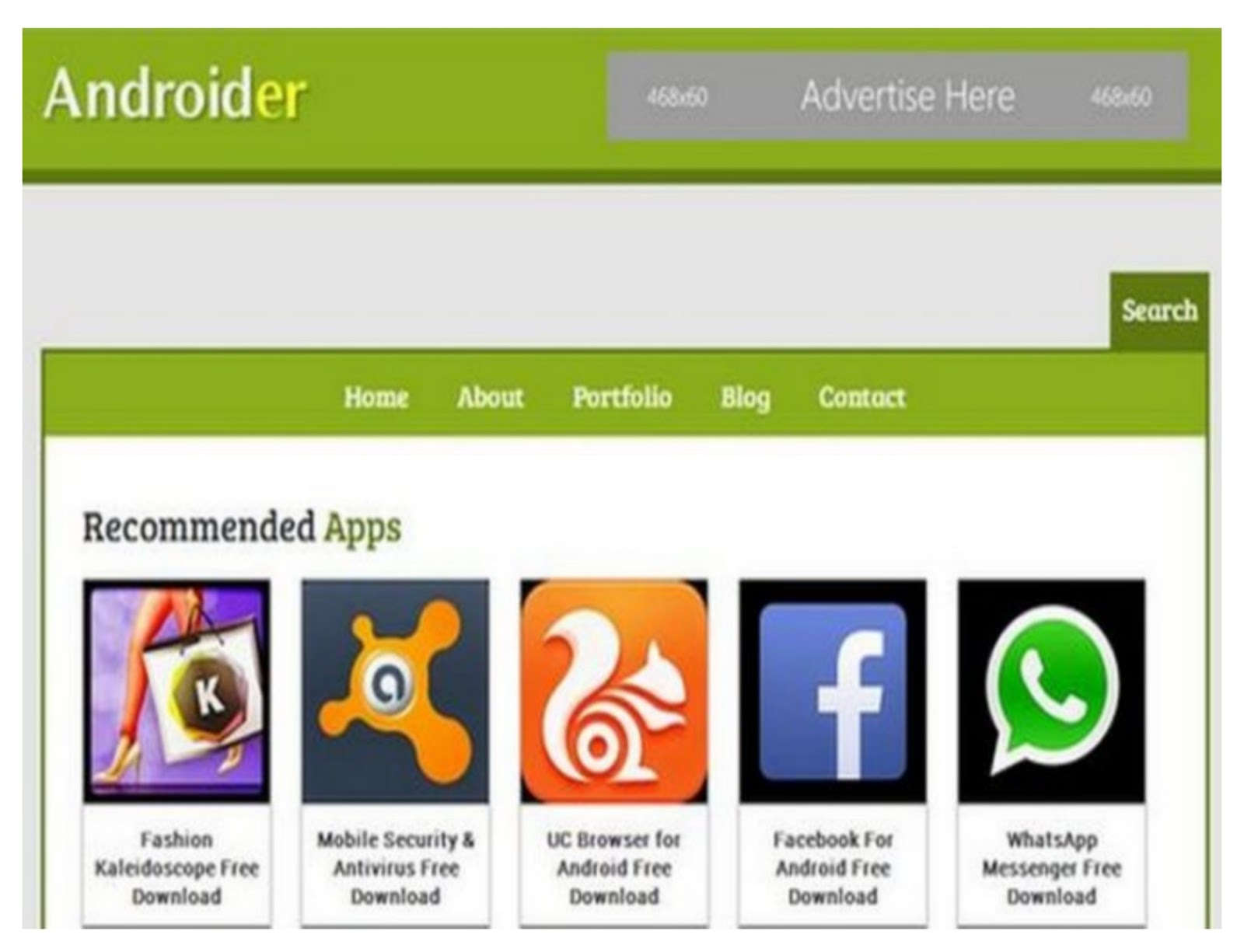 Androider Technology Blogger Template