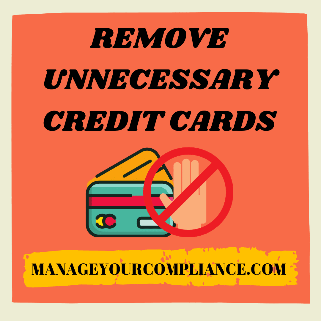 Remove unnecessary credit cards