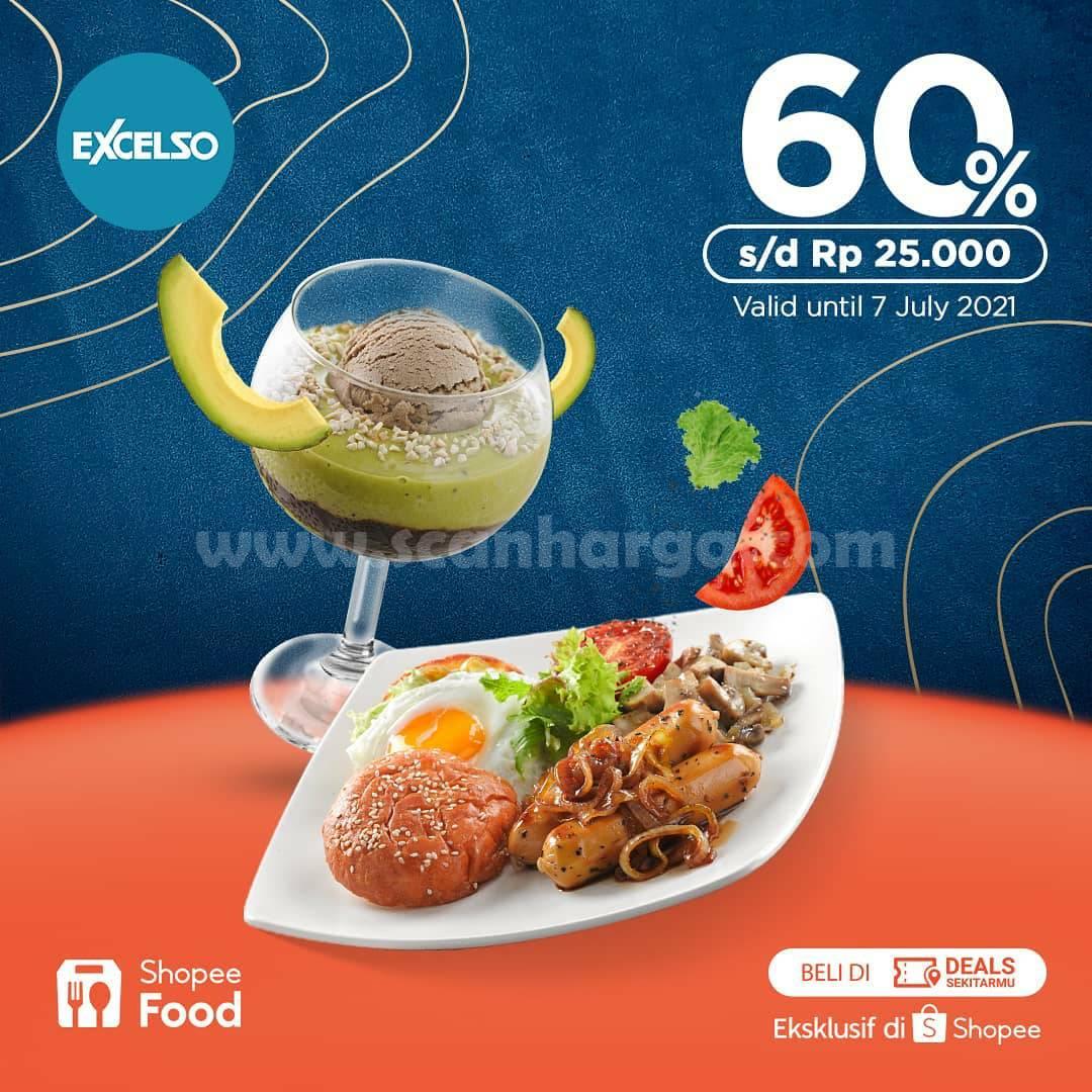 EXCELSO Promo DISKON 60% khusus pemesanan via SHOPEE FOOD